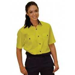 Ladies Short Sleeve Safety Shirt - SW63