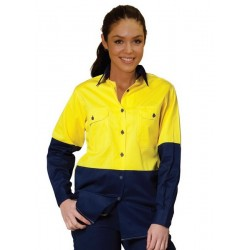 Ladies Long Sleeve Safety Shirt - SW64