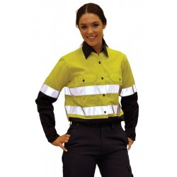 Ladies Long Sleeve Safety Shirt - SW65