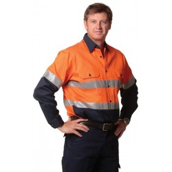 High Visibility CottonTwill Safety Shirt with 3M Tape - SW68