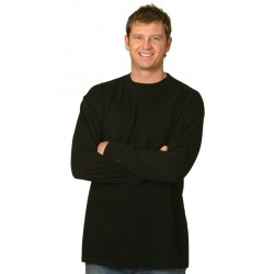 Mens 100% Cotton Crew Neck Long Sleeve Tee Shirts - TS02