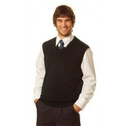 V-Neck Wool/Acrylic Knit Vest - WJ02