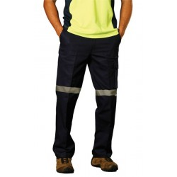 Mens Heavy Cotton Drill Pants with 3M Tapes Long fit - WP13HV