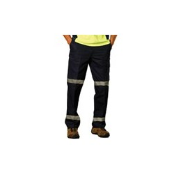 Mens Heavy Cotton Pre-Shrunk Drill Pants with 3M Tape Regular - WP07HV