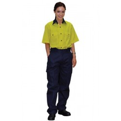 Ladies Heavy Cot- ton Pre-shrunk Drill Work Pants - WP15