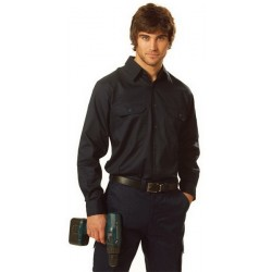 Cool-Breeze Cotton Long Sleeve Work Shirt - WT02