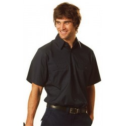 Cotton Drill Short Sleeve Work Shirt - WT03