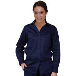 Ladies Cotton Drill Work Shirt - WT08