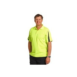 Men's TrueDry Hi-Vis Legend Short Sleeve Polo with Reflective Piping - SW25A