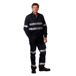 Mens Heavy Cotton Pre-shrunk Drill Pants with 3M Tapes Stout Siz