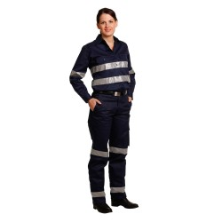Ladies Heavy Cotton Drill Work Pants with 3M Tapes - WP15HV