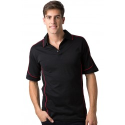 Men's 80% Combed Cotton 20% Cooldry Baby Waffle Knit Polo - BSP09