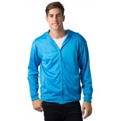 Adults 100% Polyester Cooldry Ultra Light Full Zip Hoodie - BSHD21