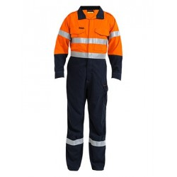 2 TONE HI VIS FR TAPED VENTED COVERALL TECASAFE PLUS 700 - BC8086T