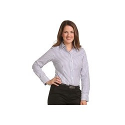 Ladies' Sateen Stripe Long Sleeve Shirt - M8310L