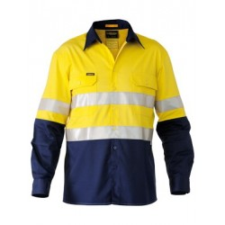 3M TAPED HI VIS INDUSTRIAL COOL VENT 2 TONE SHIRT L/S - BS6448T