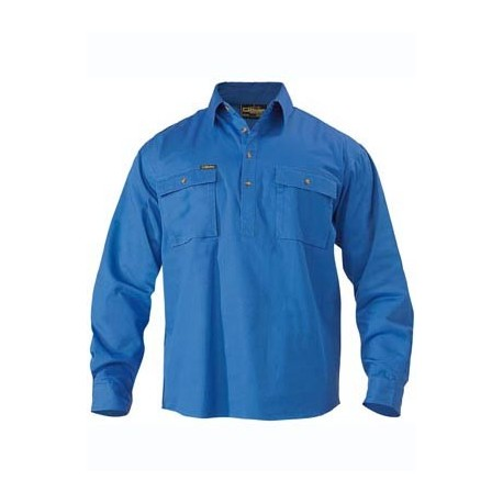 CLOSED FRONT COTTON DRILL SHIRT L/S - BSC6433