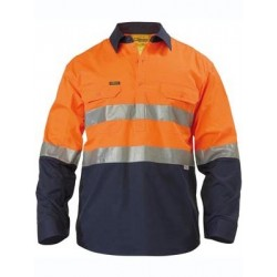 3M TAPED HI VIS COOL LIGHTWEIGHT SHIRT L/S GUSSET CUFF CLOSED FRONT - BSC6896