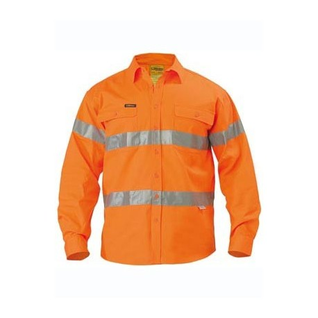 3M TAPED HI VIS DRILL SHIRT L/S CLOSED FRONT - BTC6482