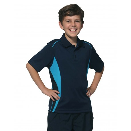 Kid's CoolDry Short Sleeve Contrast Polo - PS79K