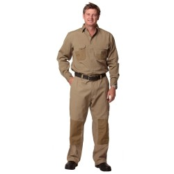 Dura Wear Mens Stout Size Work Pants With Knee Pad Pocket - WP17