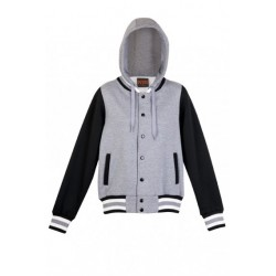 LADIES/JUNIORS VARSITY JACKET WITH HOOD - FB97UN