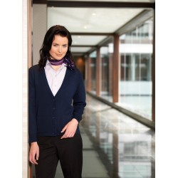 Ladies Button Through Woolmix Cardigan - LC8008