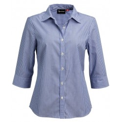 Ladies 3\4 Sleeve Corporate Stripe Shirt - W43