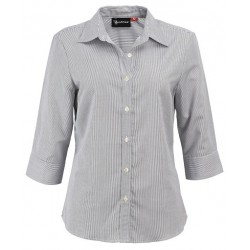 Ladies 3\4 Sleeve Corporate Check Shirt - W38