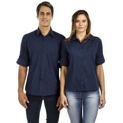 Ladies 3\4 Sleeve Shirt with Concealed Pockets & Tab on Sleeve - W36