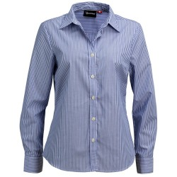 Ladies Long Sleeve Corporate Stripe Shirt - W42