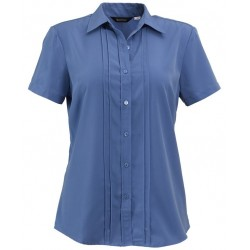 Ladies Short Sleeve Easy Care Polyester Blouse - W40