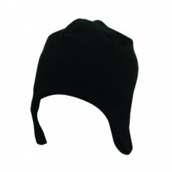 Acrylic/Polar Fleece Beanie w/ Ear Flaps - AH750