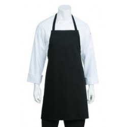 Black Bib Apron No Pocket - APKBL