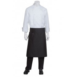 Black Tapered Apron w/ Flap - BPTA