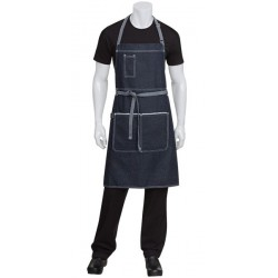 Bronx Black Denim Bib Apron - AB041