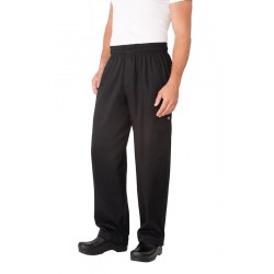 Black Basic Baggy Pants w/ Zipper Fly - NBBZ
