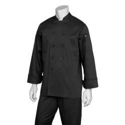 Bastille Black Basic Chef Jacket  - BAST