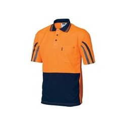 175gsm  HiVis Cool-Breathe Printed Stripe Polo , S/S - 3752