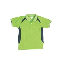 175gsm Polyester Adult Air Flow Contrast Raglan Mesh Panel Polo Shirt - 5262