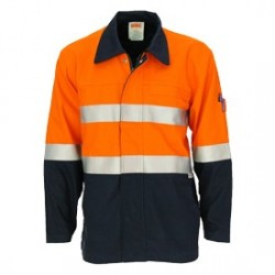 311gsm Patron Saint Flame Retardant Two Tone Drill Welder's Jacket with 3M F/R Tape.  - 3458