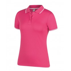 Ladies Jacquard Contrast Polo - 7JCP1