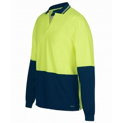Hi Vis L/S Non Button Polo - 6HNBL