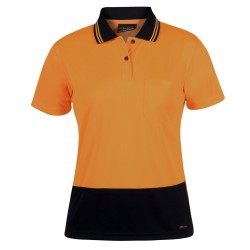 Hi Vis Ladies S/S Jacquard Polo - 6HJS1