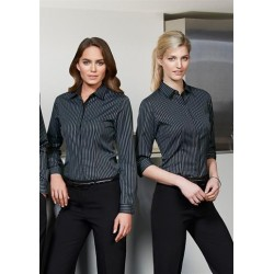 Ladies Reno Stripe 3/4 Sleeve Shirt - S415LT