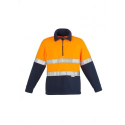 Hi Vis Fleece Jumper - Hoop Taped Orange/Navy - ZT461