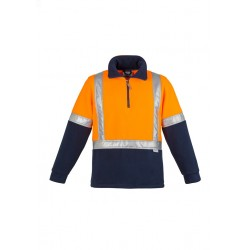 Hi Vis Fleece Jumper - Shoulder Taped Orange/Navy - ZT462