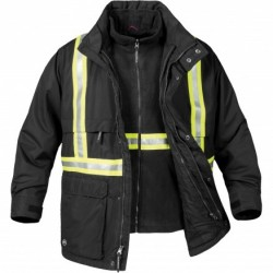 Men's 3-In-1 Reflective Jacket Black - TPX-2R