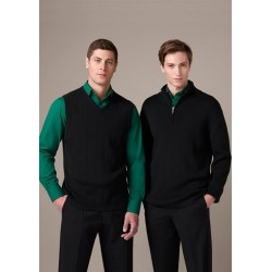 Mens Needle Out Half Zip Pullover - WP10310