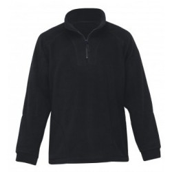 Detailed Polar Fleece Pullover Black - DET